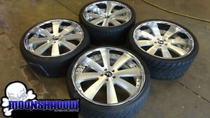 "22"" Forgiato Otto 3 PC Staggered Wheels Rims Nitto Tires Bentley Audi Mercedes"