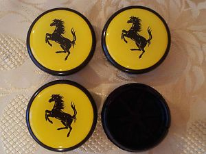 Alloy Wheels Center Caps Ferrari Logo Fiat Abarth Grande Punto 500 Panda 50mm