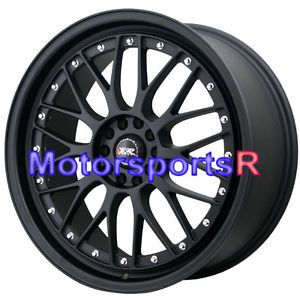 18 18x8 5 XXR 521 Flat Black Wheels Rims Lip 5x114 3 04 05 08 09 11 Subaru STI