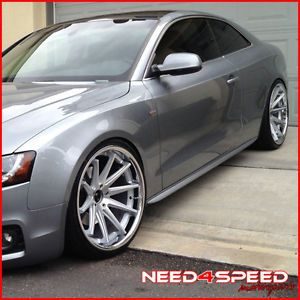 "20"" Audi A7 Rohana RC10 Concave Silver Staggered Wheels Rims"