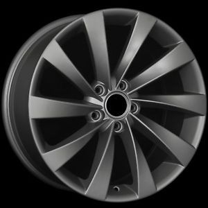 "18"" VW Turbine Style Matte Gunmetal Wheels Rims Fit Audi A3 A6 C6 TT MKII"