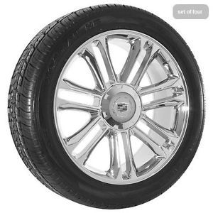 "22"" inch Cadillac Escalade Platinum Edition Chrome Wheels Rims and Tires Package"