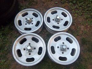 15 VW Bug Volkswagen Beetle Vintage Slot Slotted Mag Wheels Rims 4x130mm