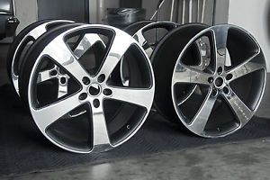 Gemballa Sport 22 inch Wheels Polished Black Fits Porsche Cayenne Audi VW