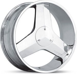 20x8 5 Chrome Element 971 Blade Wheels Rim Camaro Mustang DeVille Impala