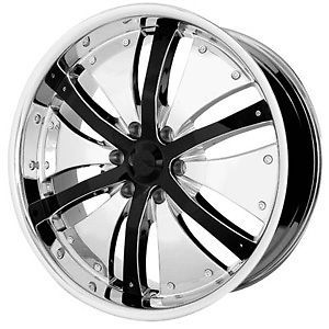 22 inch XPower Chrome Rims Wheels Tires Fit Chevy 6 Lug Chrysler 300 Charger