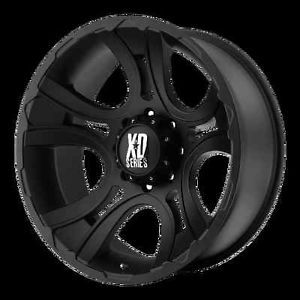 20 inch Black Wheels XD801 Crank Chevy GMC Dodge 2500 3500 Trucks 8 Lug 8x6 5