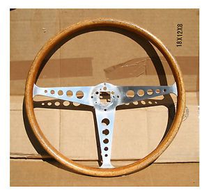Vintage Formula Speedwell Empi Wood Steering Wheel Mini MG VW Fiat Alfa BMW Ford