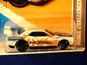 Hot Wheels 2012 Dodge Challenger Drift Car White Dodge Mopar Logo Graphics