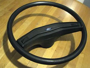 "1979 86 Ford Econoline Van Ford Truck 15"" Black Padded Steering Wheel"