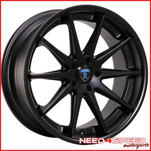 "19"" Nissan Maxima Rohana RC10 Black Concave Staggered Wheels Rims"