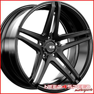 "20"" Hyundai Genesis Coupe XO Caracas Matte Black Concave Staggered Wheels Rims"