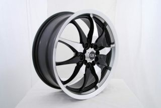 "17"" adr Black Wheels Rims Fiat 500 Abarth Cabio Pop Lounge Sport Ford Escort"