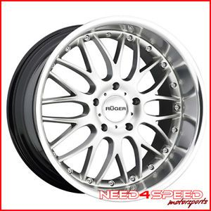 "19"" Porsche Cayman s Wide Ruger R10 Silver Staggered Wheels Rims"