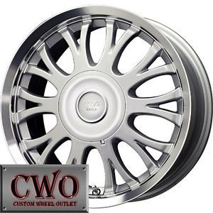 16 Silver MB Sprite Wheels Rims 5x108 5x115 5 Lug Ford Jaguar Pontiac Lincoln