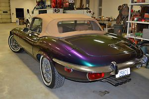 Beautiful 1973 Jaguar E Type Convertible V 12 4 Speed Custom Paint Wire Wheels