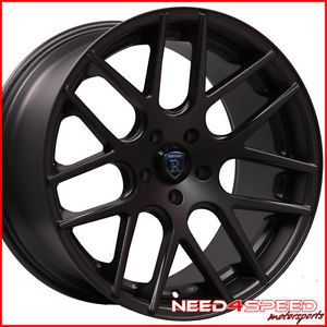 "20"" Nissan Maxima Rohana RC26 Deep Concave Black Staggered Wheels Rims"