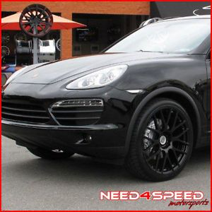 "22"" Porsche Cayenne s Turbo TSW Victor Equipment Innsbruck Black Wheels Rims"