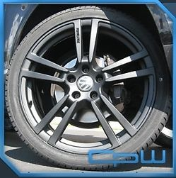 "22"" Porsche Cayenne Wheels Matte Black Set for Audi Q7 VW Touareg Wheel Tire Pkg"