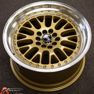 17x9 Str 520 5x100 20 Gold Wheel Fit Scion Fr s Subaru BRZ Scion TC Jetta GTI