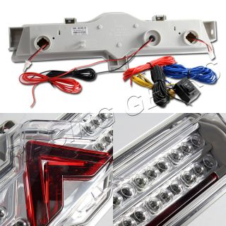 Scion Fr s Subaru BRZ Clear Red Lens Chrome Housing Rear Bumper LED Brake Light