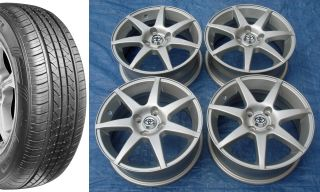 "Toyota Scion XA 15"" Alloy Wheels with Tires XB Prius C Yaris Corolla Echo"