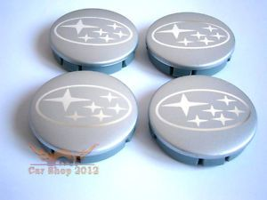 Subaru Wheel Center Caps Hubs 60mm Badge Alloy Rims Impreza Legacy Forester STI