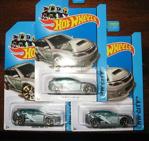 2014 Hot Wheels Treasure Hunt Subaru WRX Lot of Three