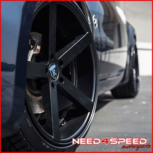 "20"" Nissan 370Z Rohana RC22 Deep Concave Black Staggered Wheels Rims"