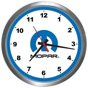 "Mopar Parts 14"" Wall Clock Dodge Chrysler Plymouth RAM Direct Connection"