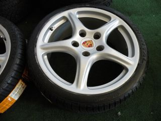 "19"" Porsche Carrera Wheels 911 Narrowbody 996 997 Tires C2 C4 Continental"