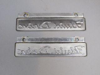 1951 1952 Dodge B3 Pickup Panel Truck Fluid Drive Badges Stainless Steel 51 52