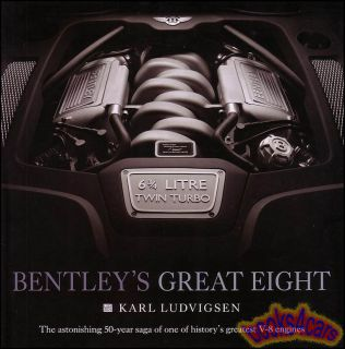 Rolls Royce Bentley Great Eight V8 Engine Book Karl Ludvigsen Silver Shadow S1 2