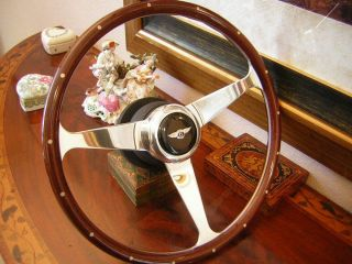 Bentley Corniche Continental 71 90 Nardi Wood Steering Wheel New Horn Push