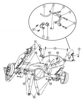 Shock Absorber Suspension Rear Genuine Mopar 52106927AB Dodge Dakota 2000 2004
