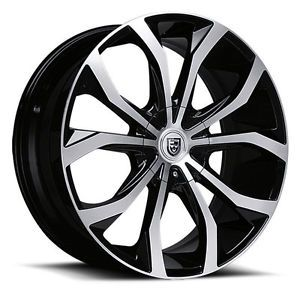 "22"" Lexani Wheels Lust Black Rims Tires Escalade Range Rover GMC Murano FX35 20"