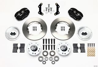 "Wilwood Disc Brake Kit Front 73 76 Plymouth Duster 11"" Black Calipers"