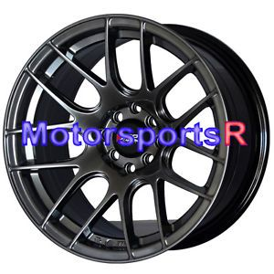 16 16x8 XXR 530 Chromium Black Concave Rims Wheels Stance 4x100 Honda Civic SI