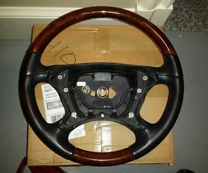 Mercedes Benz SL500 R230 2003 SL500 Burl Wood Steering Wheel