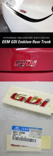 2012 2013 Hyundaiveloster Trunk Rear GDI Emblem Badge Genuine Parts