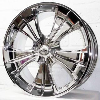 "18"" MG ZR 2001 2005 Hatchback Rial Ancona Chrome Alloy Wheels 4x100"