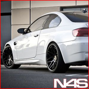 "20"" BMW E90 M3 Vertini Magic Concave Black Staggered Wheels Rims"