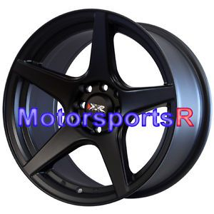16 16x8 XXR 535 Flat Black Concave Rims Wheels 4x100 Stance 95 01 Honda Civic SI