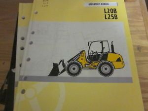 Volvo L20B L25B Wheel Loader Operators Manual