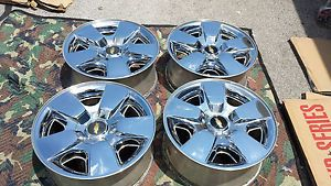 "2009 2010 Chevy Silverado Tahoe Chrome 20"" Factory Wheels Rims Chevrolet"