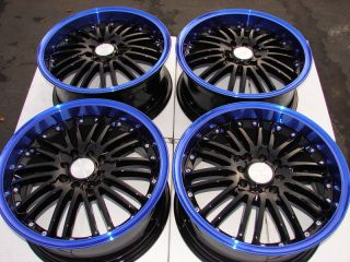 "16"" Blue Wheels Rims 4x100 4x108 Honda Accord Civic Prelude Rio Sephia Miata"