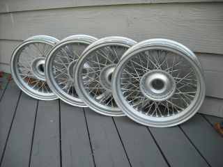 Set of 4 Borrani Wire Wheels 15x2 75 Early 50's Fit Bandini Siata Nardi Scca