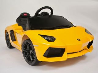 Kids Ride on Power Licensed Lamborghini Aventador Wheels RC Remote Car