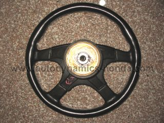 JDM 92 95 Honda Civic EG6 Momo Leather Steering Wheel