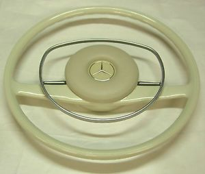 Restored Recasted Mercedes Benz Steering Wheel Ivory W108 W109 W111 W113